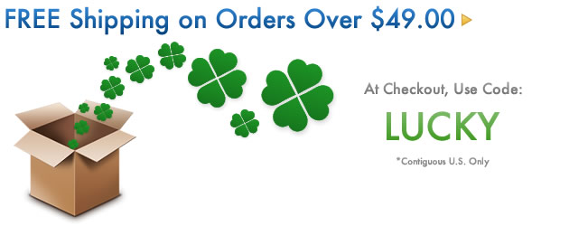Free Shipping on All Orders Over $49.99 Use Code Lucky